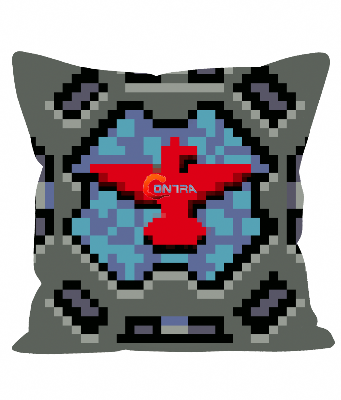 "Contra Pixel Art Pill Box Weapon Arc Sensor 12"" Sofa Cushion"